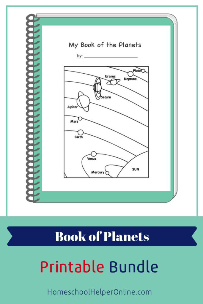 Printable bundle of planets worksheets