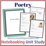 Poetry Notebooking Unit Study