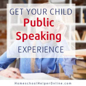 Adding public speaking to your homeschool routine