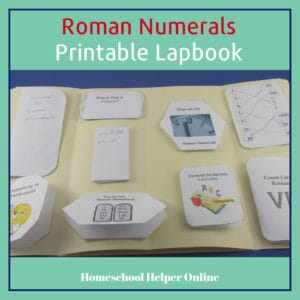 free printable roman numerals lapbook