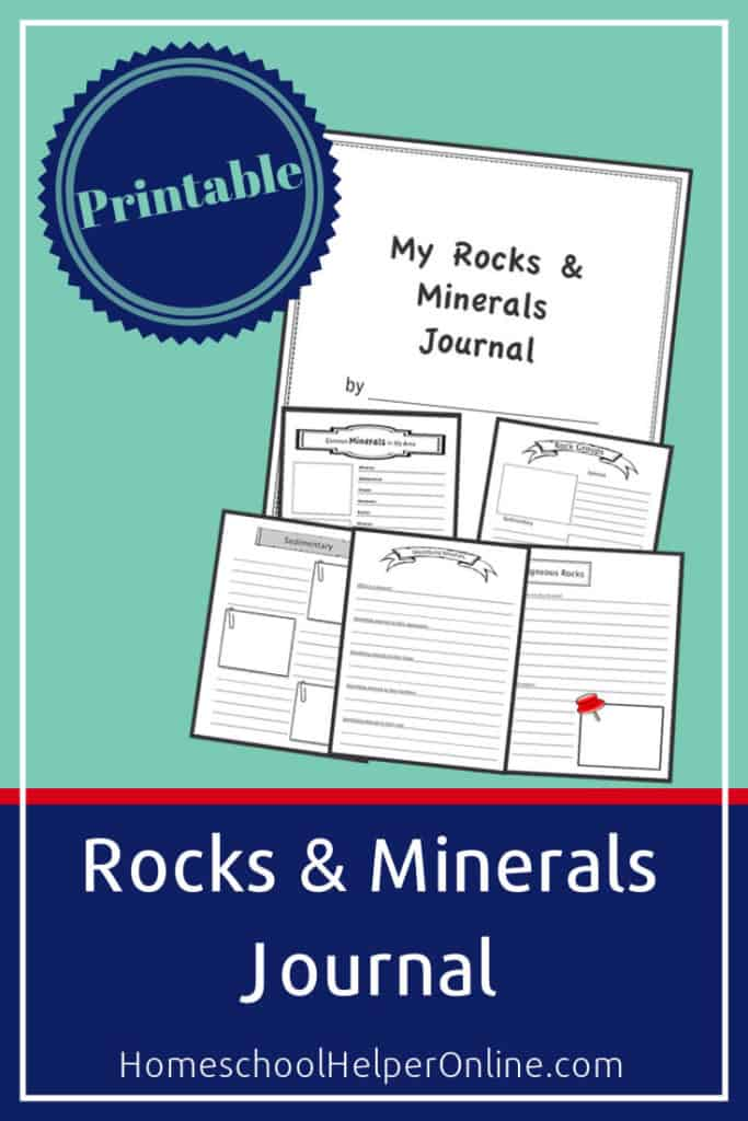 Print out this rock and mineral journal
