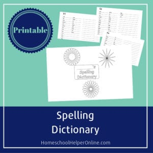 Free Printable spelling dictionary for students