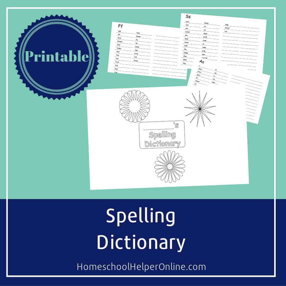 photograph about Printable Dictionary known as Totally free Printable Spelling Dictionary for Pupils - Homeschool