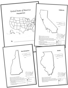 State Geography Worksheet Bundle