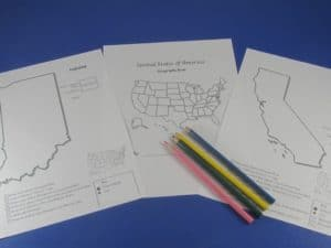 States Geography Worksheets