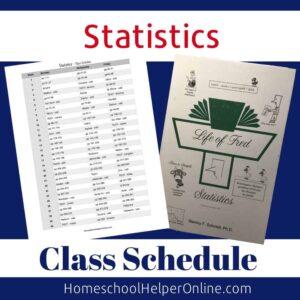 Statistics Class Schedule