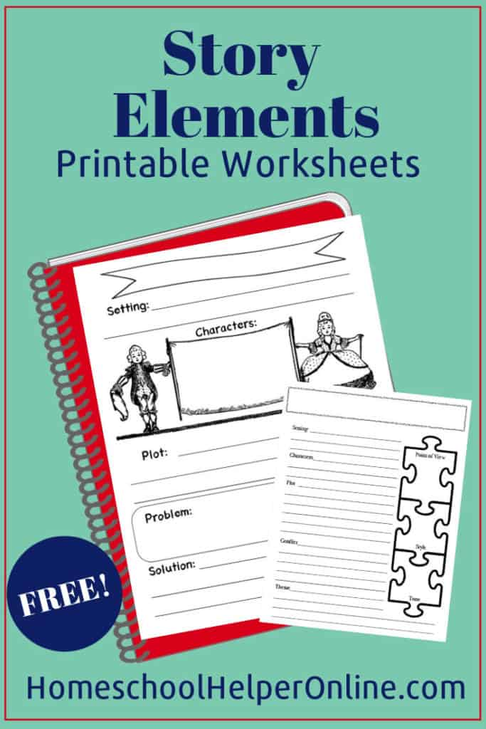 Free Elements of a Story Printable Worksheet
