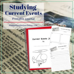 Studying current events + free printable journal