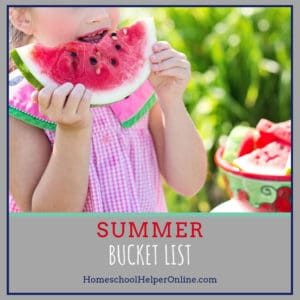 A Summer Bucket List for your Homeschool