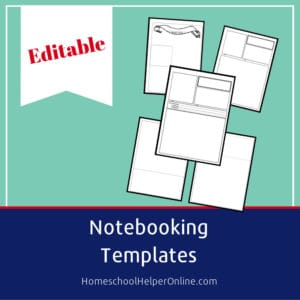 Free printable notebooking templates pack