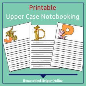 Upper Case Alphabet Notebooking