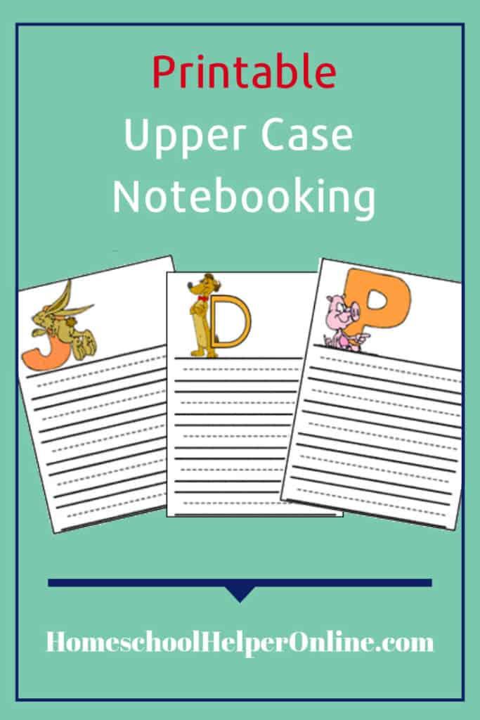 Upper Case Letter Notebooking