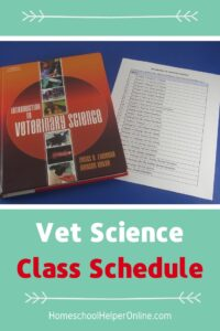 Introduction to Vet Science Class Schedule